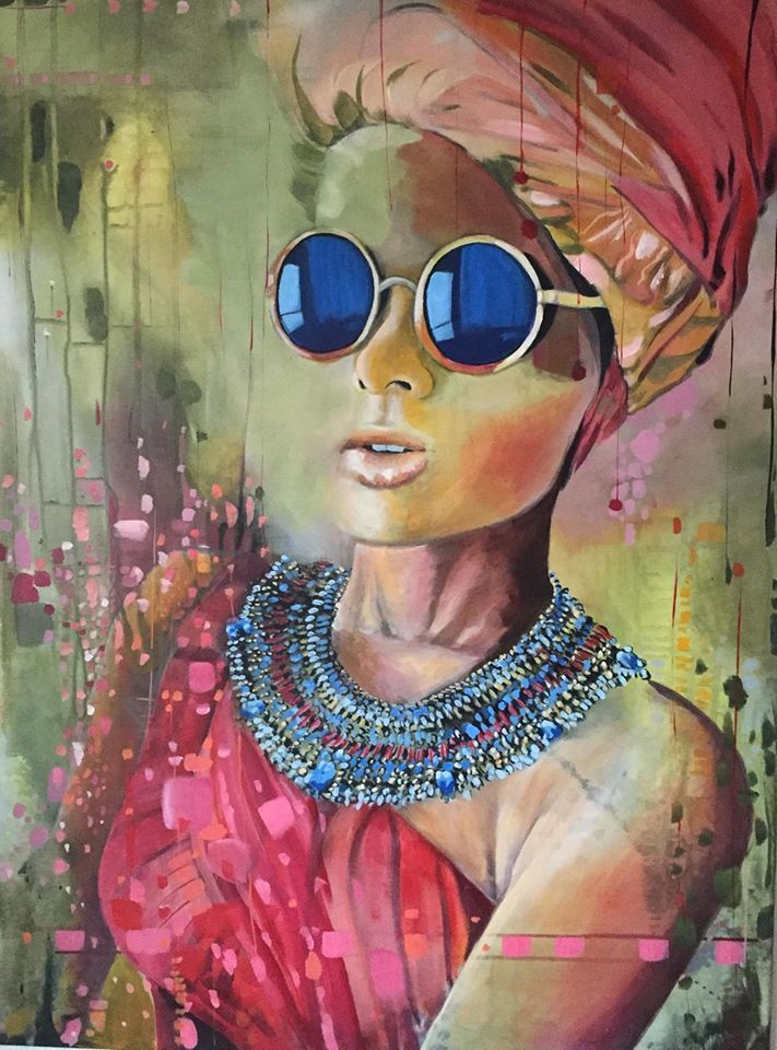 """CarambA"" 60X80 Cm. Acrylic on canvas Made by Naja Duarte"