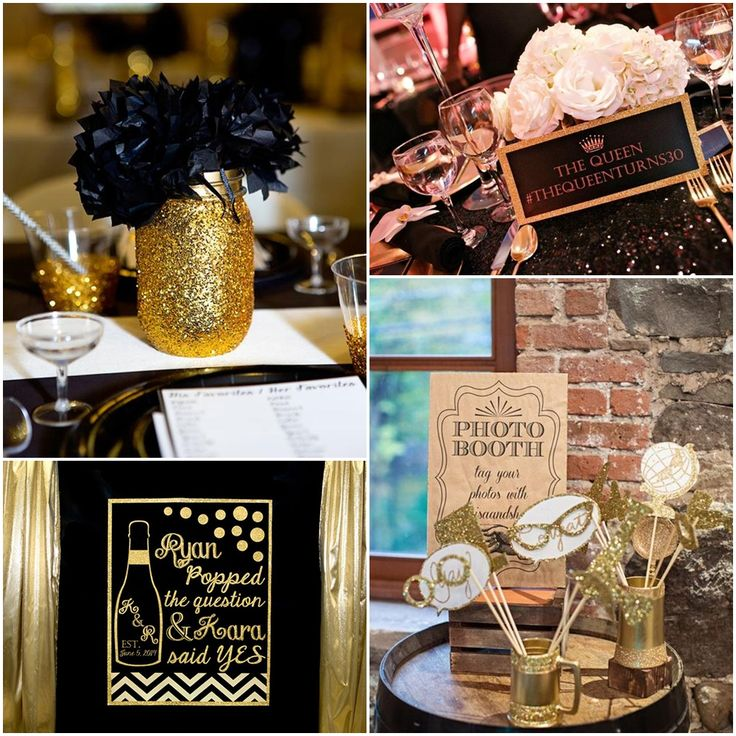 Charming Retirement Dinner Party Ideas Part - 9: Black And Gold Graduation Party Ideas