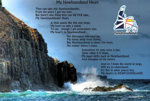 A poem written for Newfoundlanders away from home; AMEN! I sure can identify with this...GL
