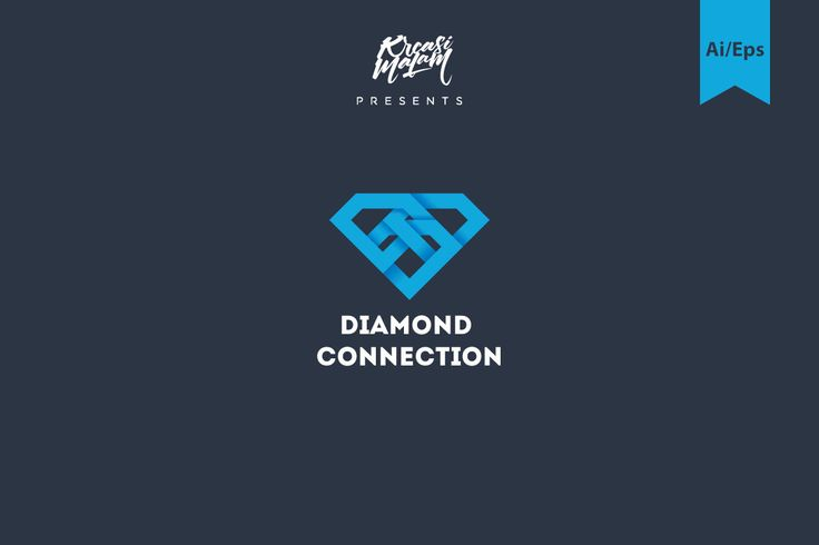 Logo conexão do diamante - APLICAÇÕES SUPORTADAS Adobe Illustrator, Adobe Photoshop TIPOS DE ARQUIVO AI, EPS, PSD - IA Produtos