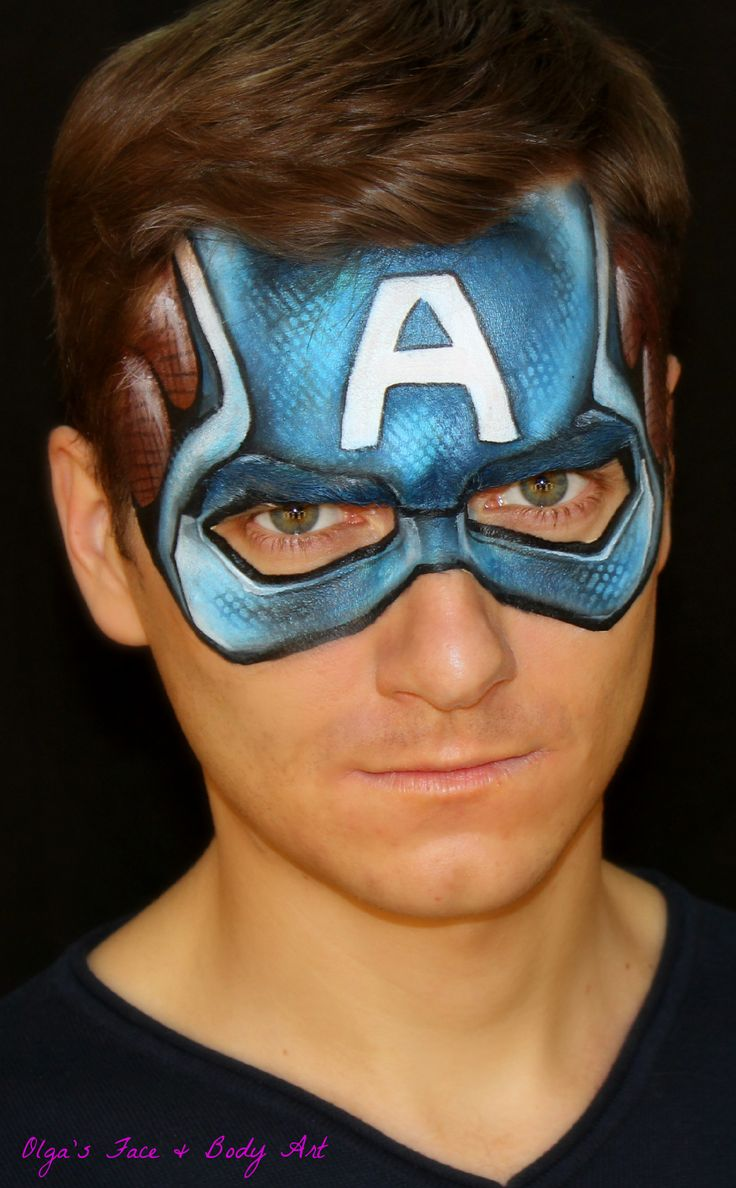 Captain America — Face Painting Design