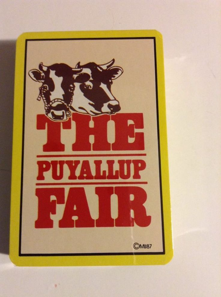 The Puyallup Fair Washington Fair Cows Do The Pupallup Sealed Playing Cards
