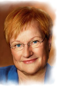 Tarja Halonen - First female President of Finland 2000-2012... and Conan O'Brien look alike :)