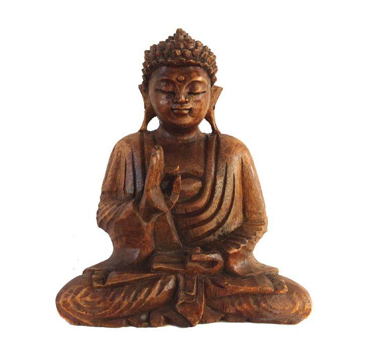 Buddha statueta de lemn 21cm Buddha statueta de lemn 21 cm inaltime, sculptata manual in India.