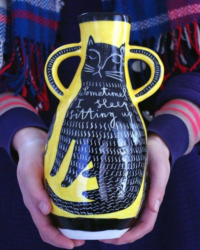 Www.vickylindo.co.uk.  sometimes i sleep sitting up. The pigeon club pottery.