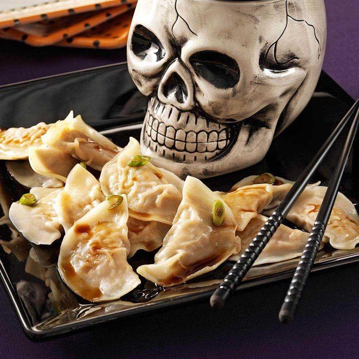 Brain Dumplings Food recipes, Halloween appetizers