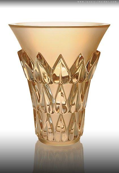 Lalique - Gold Luster Vase