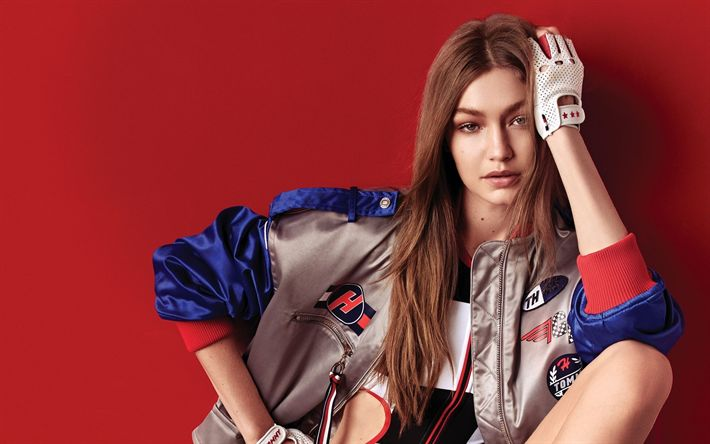 Download wallpapers Gigi Hadid, American supermodel, portrait, fashion model, beautiful woman, face, Jelena Noura Hadid