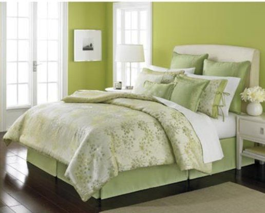 light green and white bedroom martha stewart dandelion light green 9 cal king 19045