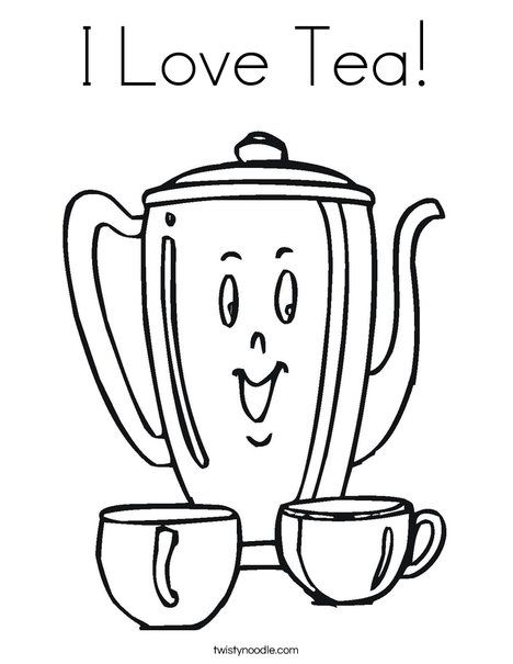printable coloring pages tea - photo#13