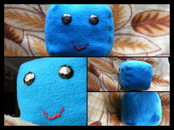 This a Cube-plushie I made for my Mom, for Christmas. :) Cute-Cube.