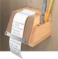 .For the outside gate, leave a note.. from WoodworkingTips - free woodworking plans projects patterns notes Telephone Messages