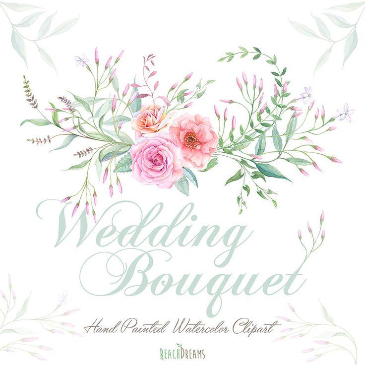 Watercolor Bouquet da sposa i fiori delle Rose di ReachDreams