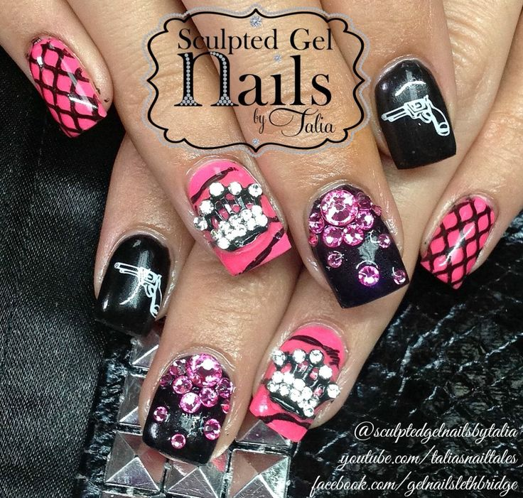 110 best my nail art images on pinterest nail art hairstyles girlie badass nail art prinsesfo Image collections