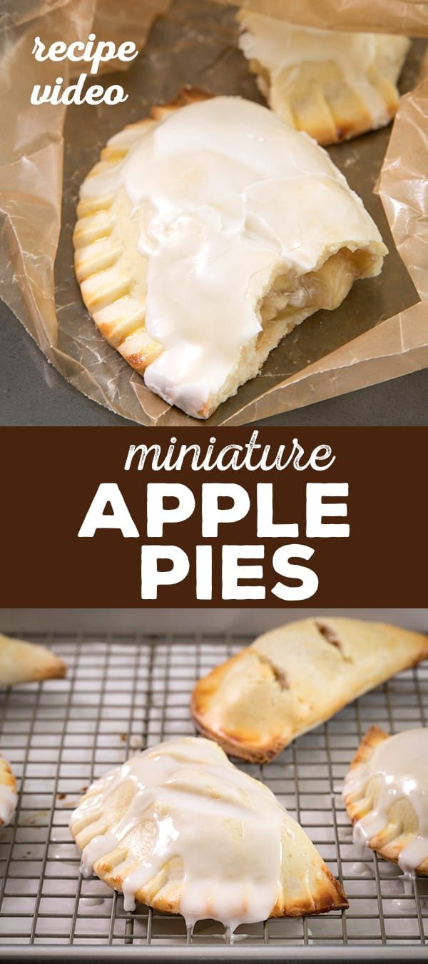 These gluten free mini apple pies are just like McDonald's or Hostess fruit pies, but baked and not fried, with a warm chunky apple filling. #applepie #GlutenFree #glutenfreerecipe #mini