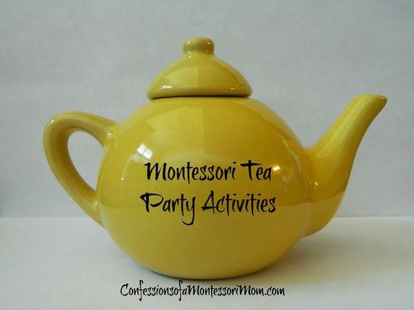 Montessori Tea Party and Kitchen Practical Life Activities {Confessions of a Montessori Mom blog} #Montessori #activities