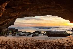 Caves Beach, Sunrise. NSW, Australia, Ocean, cave, sunrise, beach, Sydney