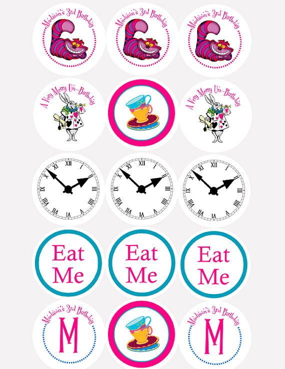 Alice in Wonderland Mad Hatter Tea Party Cupcake by digitalparties, $6.00