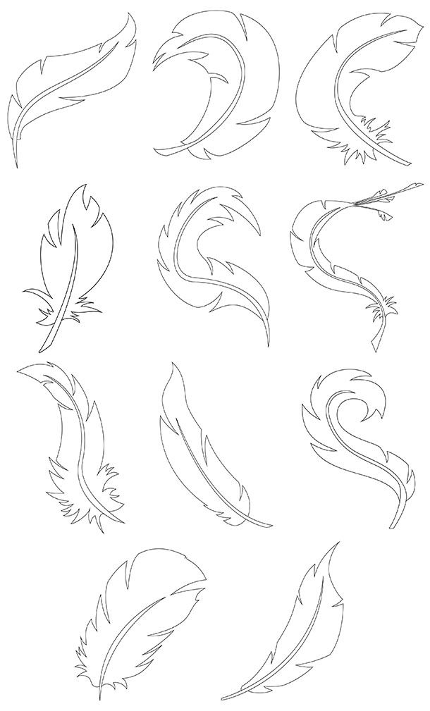 A doodle feather you can color the way you want. Or fill it with fun patterns and shapes. Just have fun with it. You can download 3 free feathers or purchase the sample book that has 11. After you make your master piece cut them out and make something fun! colorbook4nerdlin...