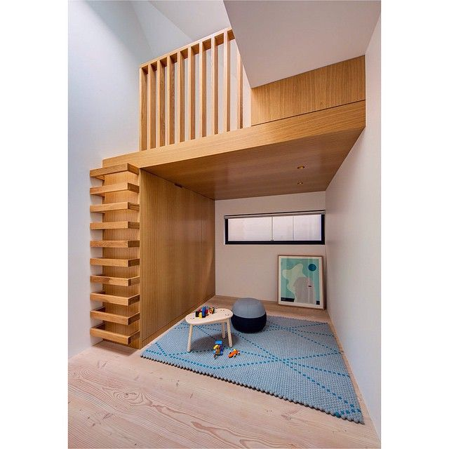 Sweet ladder and little play nook in Glebe House by Nobbs Radford Architects