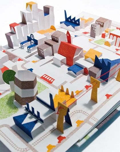 """Popville"" pop-up book by Anouck Boisrobert"