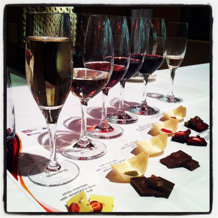 A chocolate and wine tasting at the National Wine Centre