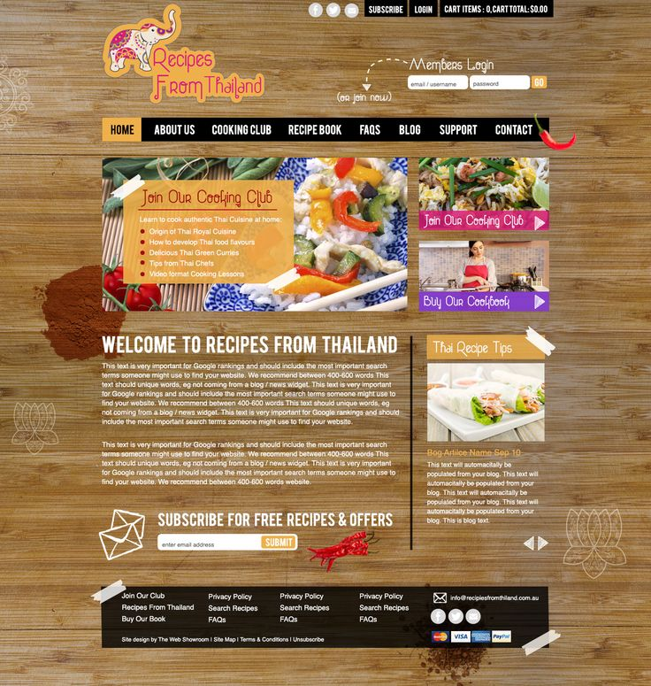 Who doesn't love a good Thai dish! Once this site is live you can join their membership club and learn now to cook authentic Thai recipes from different regions throughout the country. #AuthenticThaiCooking