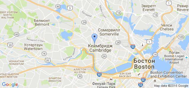 Местоположение на карте - Гарвардский университет
