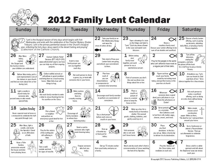 2015 Lent Calendars For Catholics For Kids. Family Lent Calendar  Download The A Bove I Mage