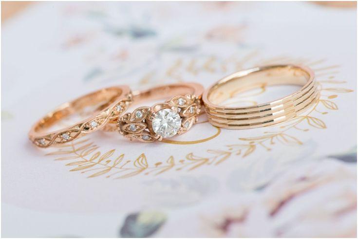 Rose gold wedding bands  Oakfield Farm wedding » Wedding photographer Pretoria Stella Uys