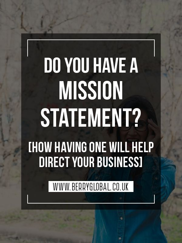 how to write a mission statement for a business plan