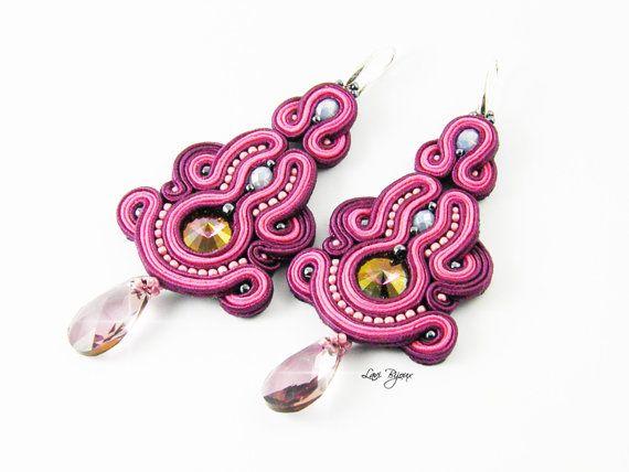 Earrings/Handmade Earrings Soutache by LaviBijoux on Etsy