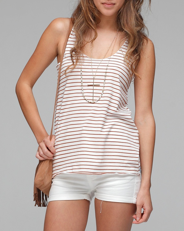 pretty penny | striped tankWhite Shorts, Summer Outfit, 25 5, Soft Tanks, Woman Tops, Clothing Outfit, Pennies Tanks, Pretty Pennies, Fashionista Babbayi