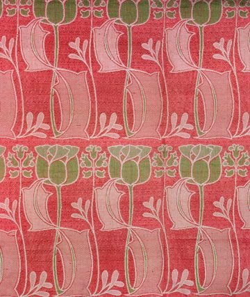 Furnishing Fabric, by Harry Napper (1860-1930), made by J.W. & C.Ward of Halifax. Woven silk & wool. England, c.1900. V Prints