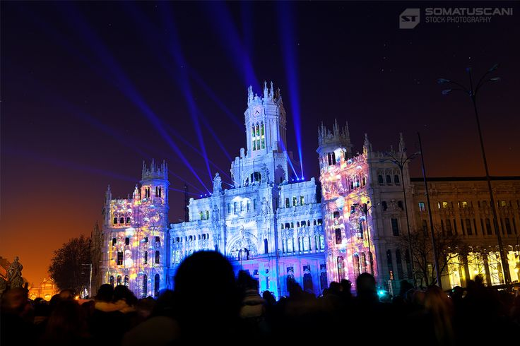 Light Show in Madrid City Hall by Victor Torres on 500px