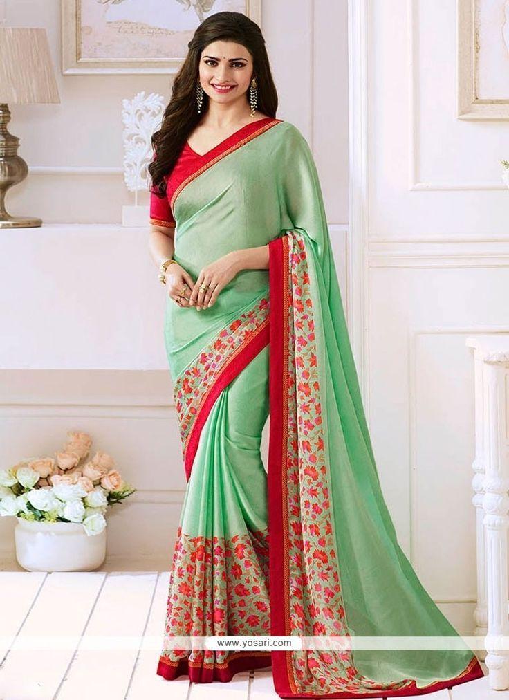 Prachi Desai Green Bollywood Saree Model: YOSAR9659