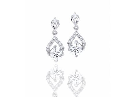 Mined in Northern Ontario these 18k Palladium & White Gold Canadian Victor Diamond .73ctw Dangle Earrings in VS Quality are a true Canadian treasure