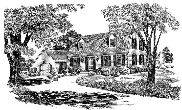72 best colonial and capes images on pinterest home for Colonial reproduction house plans