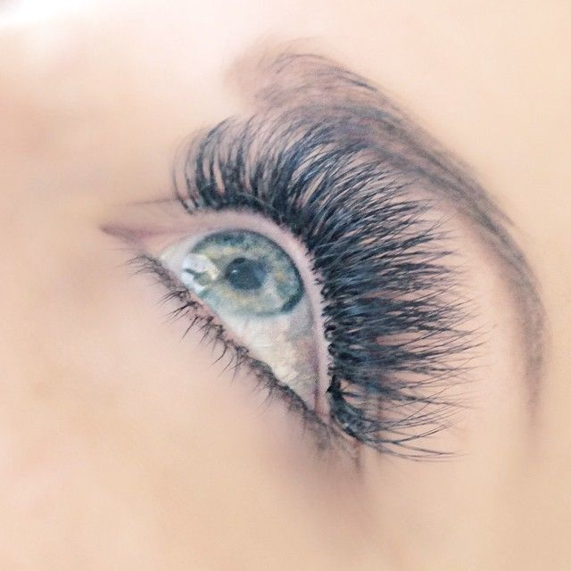 Eyelash extensions. This pretty set of volume lashes was ...