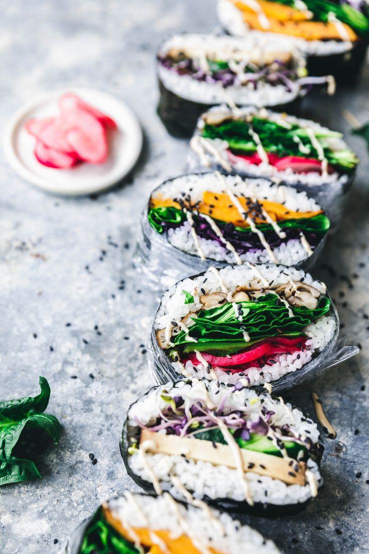 Vegane Sushi-Sandwiches: japanische Onigirazu #sogehts #Rezept