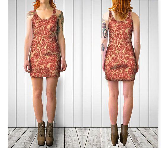 Floral Loop Bodycon Dress