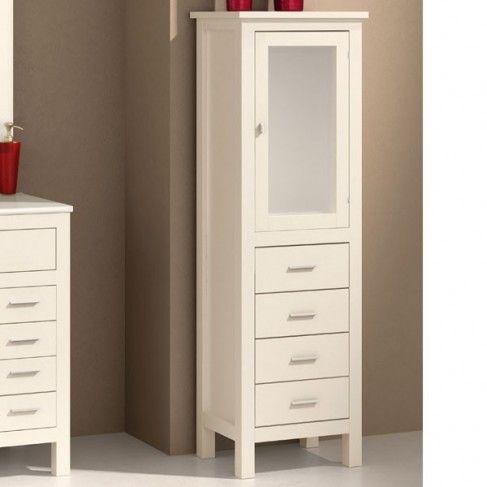 Mueble de ba o columna madera muebles practicos for Muebles de bano columna
