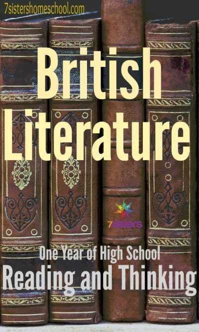 One Year of Reading and Thinking...curriculum with no busywork - British Literature High School Study Guides from 20+year veteran homeschool moms.