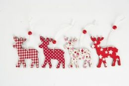 Red and white traditional reindeer