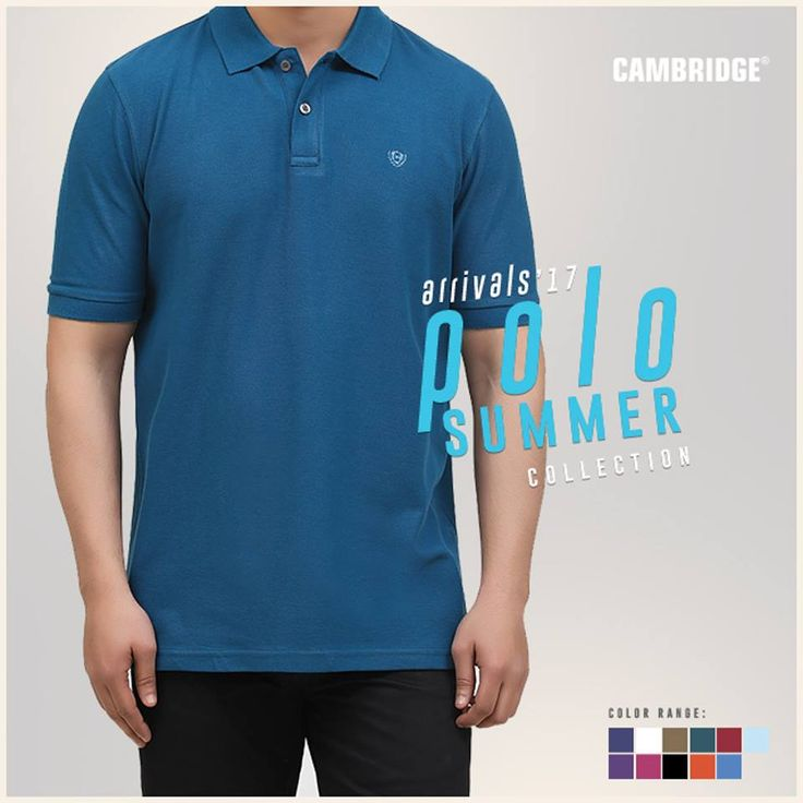 Buy high quality men's polo shirts online at Cambridge.