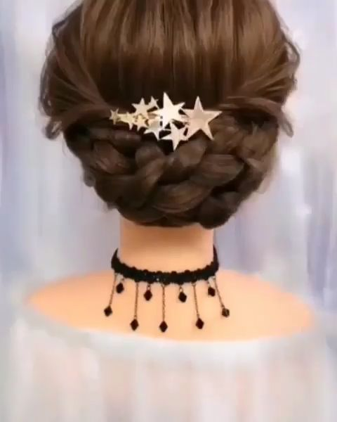 DIY Wedding Hairstyles with Tutorials for Mid Length Hair@hair2pearl via Instagram
