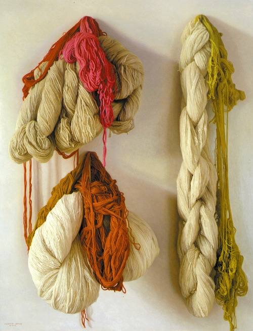 Yeah, that is paint, not yarn  Lanas [Yarns]  oil on canvas, 2003  Claudio Bravo