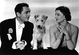 Mr. And Mrs. Thin Man - Nick and Nora Charles with Asta (William Powell and Myrna Loy)