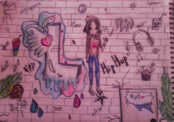 Graffiti #girl#hip hop#my style #drawing