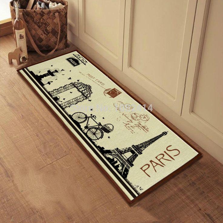 Aliexpress.com: Koop gratis verzending parijs scène/fiets/Eiffeltoren deurmat/vloermat 40x100cm met anti slip rug home decor, voor slaapkamer van betrouwbare decoratieve vloermat leveranciers op Home Fashions